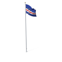 Flag On Pole Cape Verde PNG & PSD Images