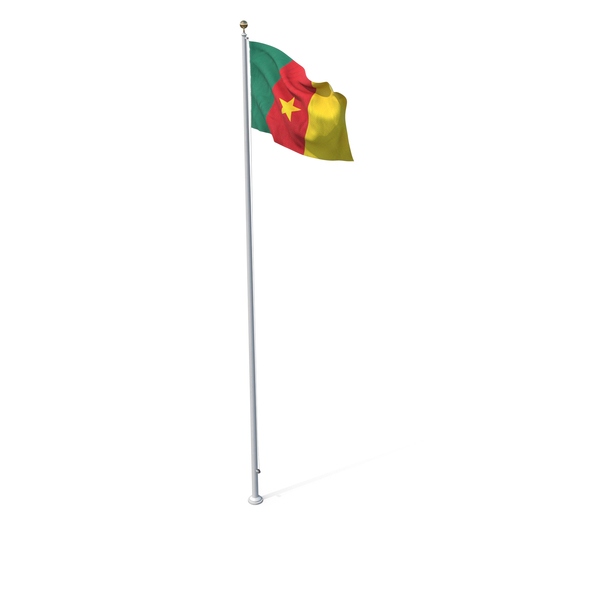Flag On Pole Cameroon PNG & PSD Images