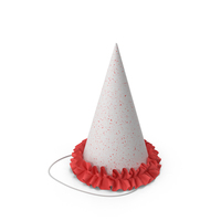 Party Hat With Red Frill PNG & PSD Images