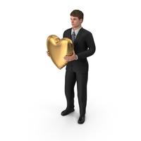 Businessman John Holding Heart PNG & PSD Images