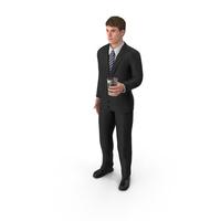 Businessman John Holding Drink PNG & PSD Images