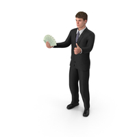 Businessman John Holding Cash PNG & PSD Images
