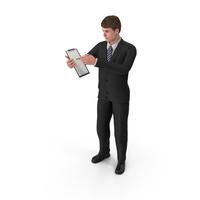 Businessman John Holding Notepad PNG & PSD Images