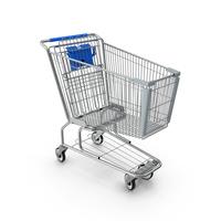Metal Shopping Cart Blue PNG & PSD Images