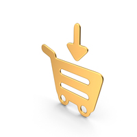 Add to Card Symbol Gold PNG & PSD Images