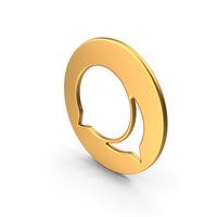 Speech Bubble Symbol Gold PNG & PSD Images