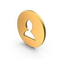 User Symbol Gold PNG & PSD Images