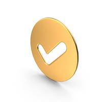 Tick Symbol Gold PNG & PSD Images