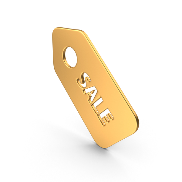 Sale Sticker Symbol Gold PNG & PSD Images