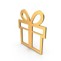Gift Symbol Gold PNG & PSD Images