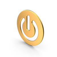 Power Button Gold PNG & PSD Images