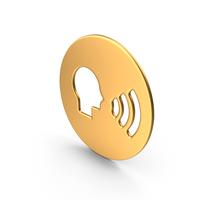 Dialogue Symbol Gold PNG & PSD Images