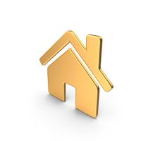 Home Symbol Gold PNG & PSD Images