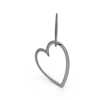 Keychain Heart Silver PNG & PSD Images