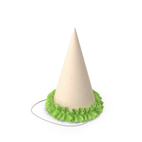 Party Hat with Green Frill PNG & PSD Images