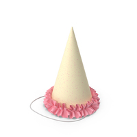 Party Hat with Pink frill PNG & PSD Images