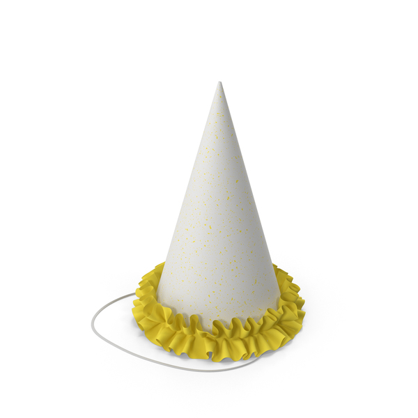 Party Hat with Yellow Grill PNG & PSD Images