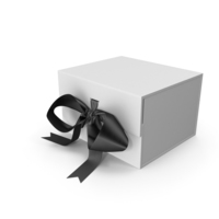 Box with Ribbon Closures PNG & PSD Images