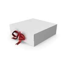 Box with Red Ribbon PNG & PSD Images