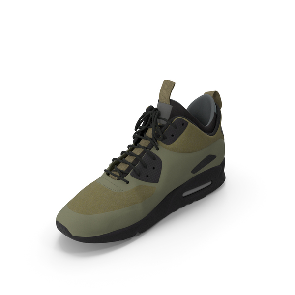 Men's Sneakers Green PNG & PSD Images