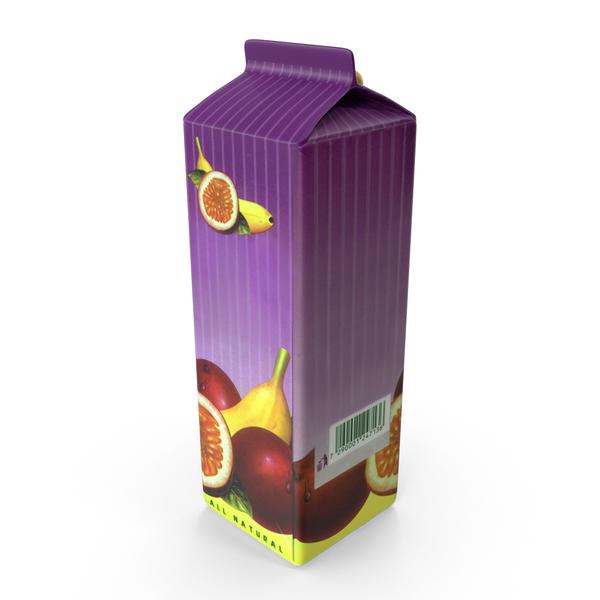 Passion Fruit Juice Carton PNG & PSD Images