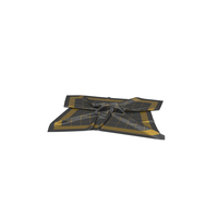 Black and Gold Silk Scarf PNG & PSD Images