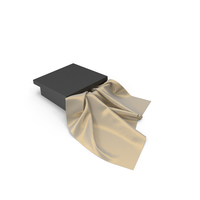 Black Box With Silk Scarf PNG & PSD Images