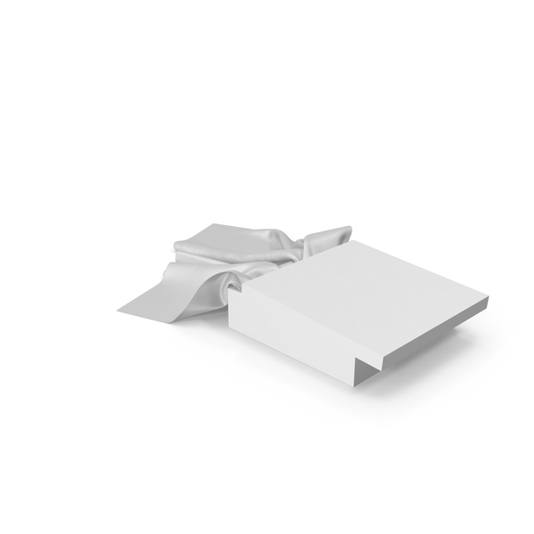 White Box with White Silk Scarf PNG & PSD Images