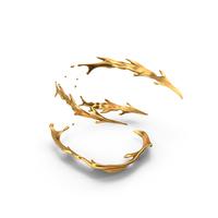 Golden Spiral Splash PNG & PSD Images