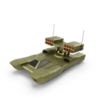 Low-Poly Gaming Missile Hover tank PNG & PSD Images
