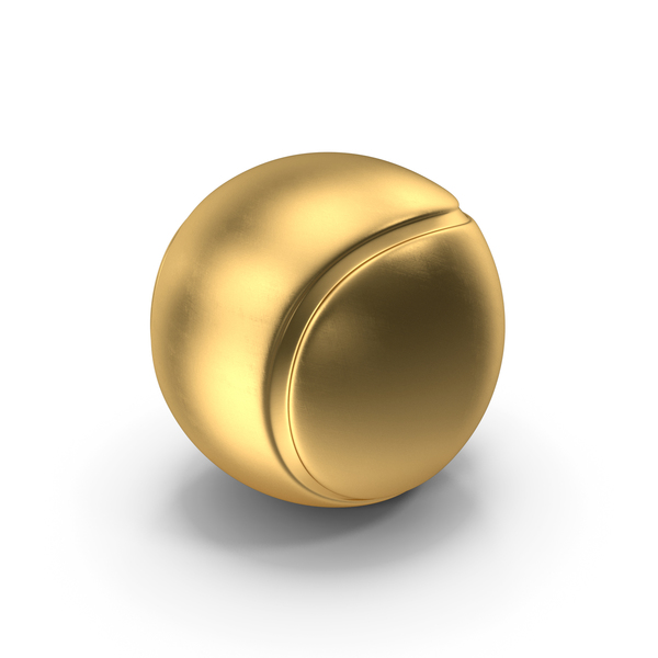 Tennis Ball Gold PNG & PSD Images