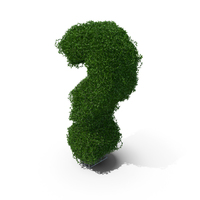Boxwood Question Mark PNG & PSD Images