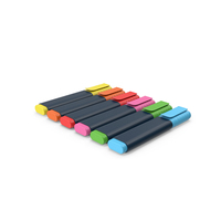 Colored Highlighters PNG & PSD Images