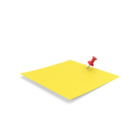 Sticky Note And Push Pin PNG & PSD Images