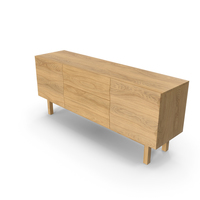 Apex White Oak Sideboard PNG & PSD Images