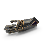 Battle Worn Fantasy Knight Hand Armor PNG & PSD Images