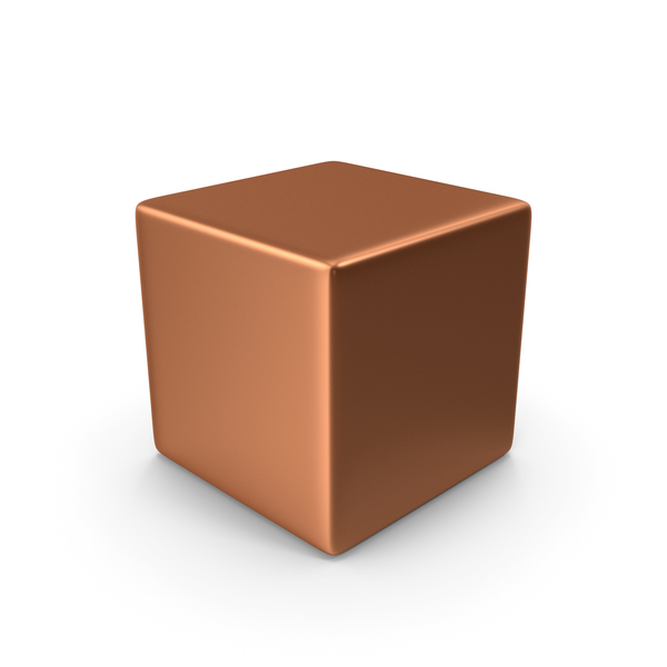 Bronze Cube PNG & PSD Images