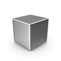 Chrome Cube PNG & PSD Images