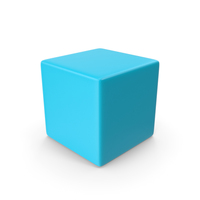 Cyan Cube PNG & PSD Images