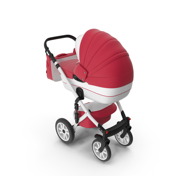 Baby Stroller Red PNG & PSD Images