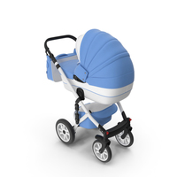 Baby Stroller Blue PNG & PSD Images