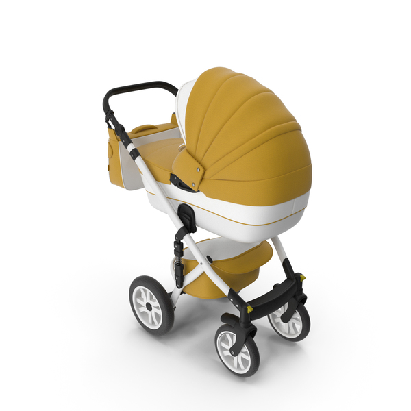 Baby Stroller Yellow PNG & PSD Images