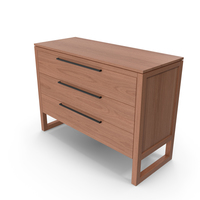 Linea II Natural Three-Drawer Chest PNG & PSD Images