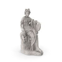 Thalia, Muse of Comedy Statue PNG & PSD Images
