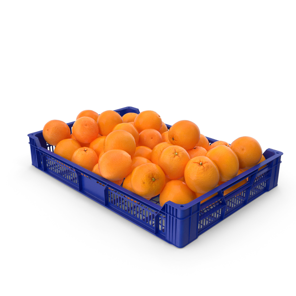 Plastic Tray With Oranges PNG & PSD Images
