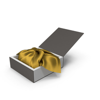 Wrapping Gold Cloth Gift Packaging Box PNG & PSD Images