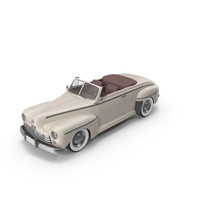 Vintage Convertible Car Cream PNG & PSD Images