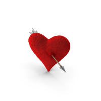 Plush Heart With Arrow PNG & PSD Images