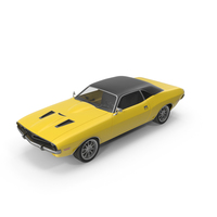 Retro Car Yellow PNG & PSD Images