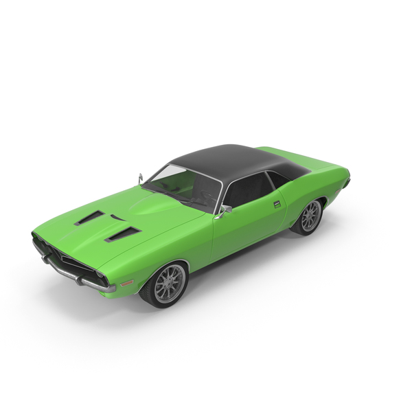 Retro Car Green PNG & PSD Images